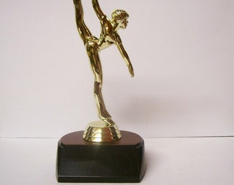 FEMALE GYMNASTIC TROPHY personalized 6 inches tall