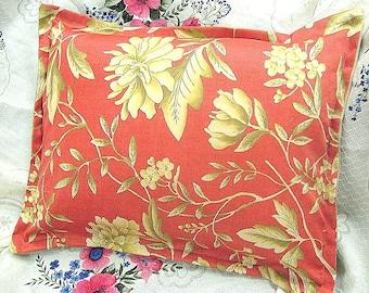 Pair Custom Made BOUDOIR Pillow Shams - Ralph Lauren Fabric -  VILLA CAMELIA Floral