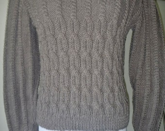 Gray-wool-cable-sweater-no-238