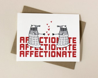 Doctor Who Inspired Dalek Valentine Card
