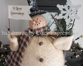 Chubby  Charlie Snowman ~ Made to Order