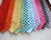 Little and Big Guy Necktie- TONAL POLKA DOT Collection - (All sizes) - Boy Toddler Adult - Made to Order - Photo Prop