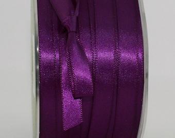 "Purple Satin Ribbon, Eggplant, 3/8"" wide Ribbon by the yard, Sewing, Trim, Scrapbooking, Gift Wrap, Crafts, Wedding Ribbon"