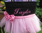 Personalized Pink Ballet Tutu Tote Bag