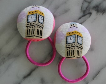 Big Ben pony tail holders make adorable party favors, gifts, everyday hair accessories