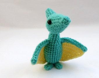 Crochet PATTERN PDF - Amigurumi Pterodactyl Dinosaur - amigurumi dinosaur pattern, crochet dinosaur, amigurumi dinosaur toy, softie