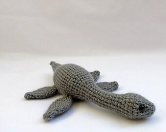 Crochet PATTERN PDF- Amigurumi Plesiosaurus Dinosaur - amigurumi dinosaur pattern, crochet dinosaur, loch ness monster dinosaur toy softie