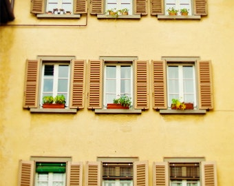 Italy Photography, Bergamo photograph, travel, wanderlust, windows, home decor, romantic photograph of Italy