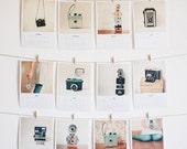SALE 25% OFF 2014 Mini Calendar - Art, photography, desk calendar, gift for man, Christmas gift ideas, mint, black - Camera Love