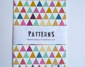 "Cards Geometric all-over pattern, size 4 x 6"" (10,5x15cm)"