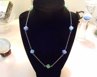 Wire-Wrapped Glass Necklace
