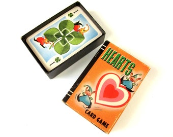 Whitman Miniature Hearts Card Game 1951 Complete VGC / Scrapbook Supply, Ephemera, Valentine Gift / Vintage Childrens Game