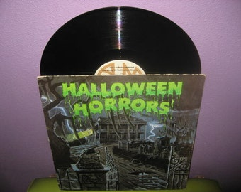 HOLIDAY SALE Vinyl Record Album Halloween Horrors Sound Effects and Story LP 1977 Witches Ghosts Bats