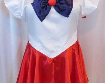Plus Size Sailor Mars Scout Costume Cosplay Adult Women's Custom Fit 16 18 20 22 24 Sailor Moon