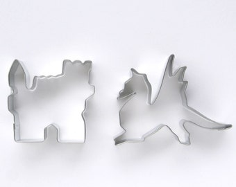 Dragon and Castle Cookie Cutter Set