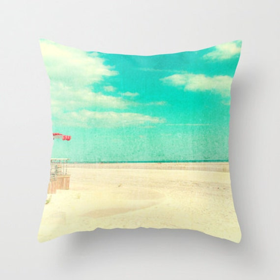 Decorative Pillows Beach Theme : Items similar to Throw Pillows Beach Theme Decor Hostess Gift, Beach Cottage, Turquoise, Blue ...