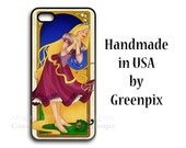 Disney Rapunzel Galaxy S5 or iPhone 6 6S case, Tangled princess, Pascal, chameleon, fairy tale, original art, i Phone 4 4s 5 5s 5c