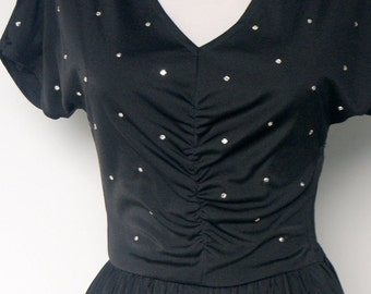 Vintage Starry Night 70s Dancing Dress by Young Edwardian by Arpeja