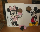 Special  for  Megan Mickey &    red  Minnie   pink one  shown corn hole   toss  games