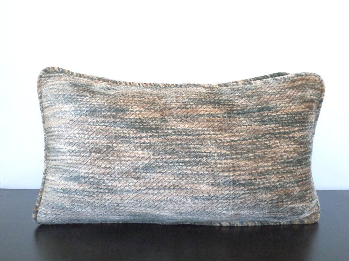 Beige Velvet Pillow Cover Light Blue Lumbar Cover By