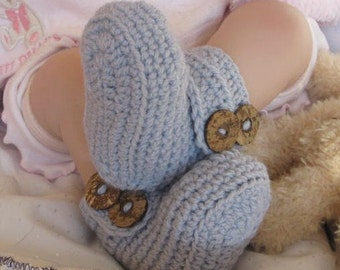 Baby Crochet PATTERN Wrap Around My Heart Booties/UGG Boots Baby Booties Pattern