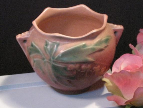 vintage roseville pottery bleeding jardiniere vase
