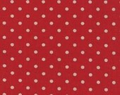 Mochi Linen Dots by Momo for Moda Fabrics, Dots Red  1/2 yard total