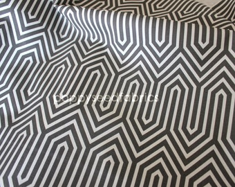 Premier Prints, Trails Steel - home decor weight fabric, Half Yard