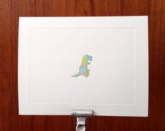 Origami Dinosaur Note cards - T Rex - Stationery Set of 10 cards and envelopes