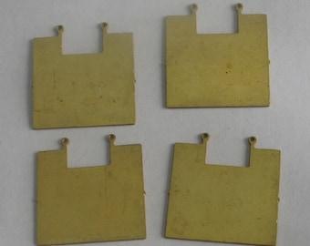 Larger Raw Brass Geometric Shape 4 pieces