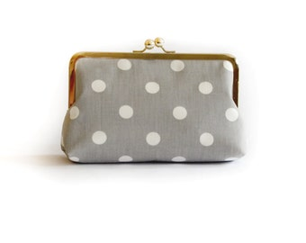 Bridesmaids Gifts Wedding Party Purses Custom Polka Dots Bag Clutches by Lolis Creations