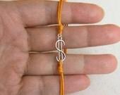 Dollar Sign Bracelet or Dollar Sign Anklet (set of 2)
