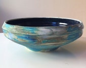 Tie Dye Turquoise Serving Bowl
