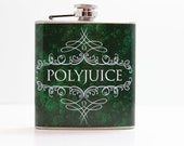 SALE Polyjuice Flask, inspired by Harry Potter 6 oz. Stainless Steel Color Wrap