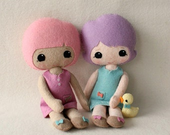 Best Friends Doll pdf Pattern - Instant Download