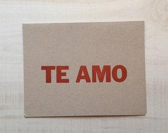 I love you / Te amo