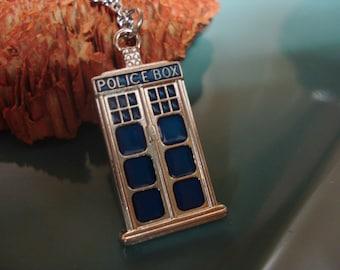 Medium TARDIS Necklace