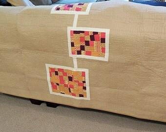 Modern Quilt / Bed Scarf