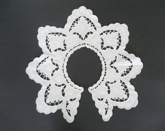 White Collar Cotton Cutwork Needlelace