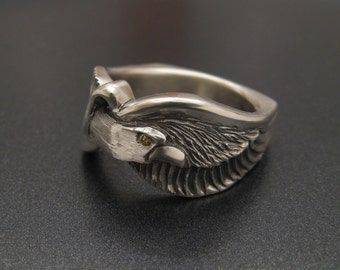 Limited Edition Sterling Eagle Ring