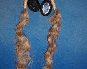 Handmade Wensleydale Wool Fiber Earrings