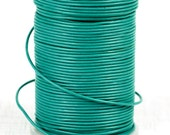 SHOP SALE - Greek Genuine Leather Cord, round 1.5mm Turquoise Aqua, By the Yard, DIY Nautical Mykonos Craft Jewelry Supplies
