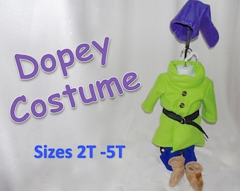 Dopey Dwarf Costume from Disney's Snow White sizes 2T, 3T, 4T, 5T and 6/6x