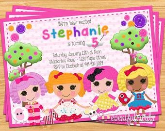 Lalaloopsy Kids Birthday Party Invitation Printable Digital File