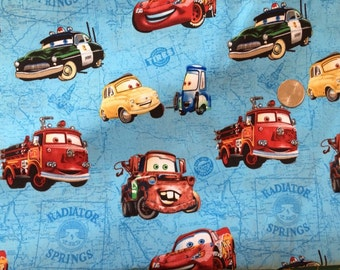 Cars and Trucks Fabric 1 Yard