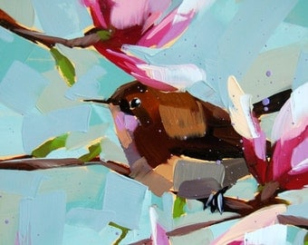 Carolina Wren no. 27 Art Print by Angela Moulton