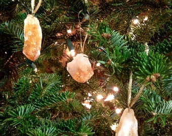 Citrine Crystal Ornaments - Set of 6