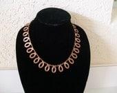 VINTAGE 1950s RENOIR COPPER Necklace Modernist Loop Design