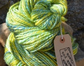 112g Handpainted and Homespun Bluefaced Leicester Yarn  - Spring Greens