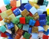 100 Colorful Mix Mini Vitreous Glass Tiles/ Mosaic Supplies/ Crafts/Mosaic Pieces